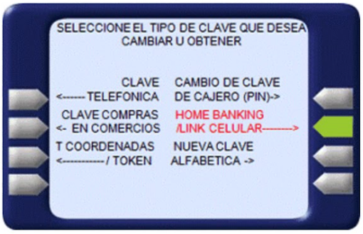 Obtener clave hhome banking